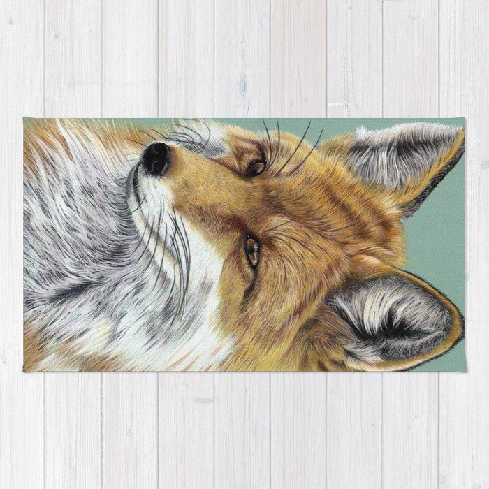 Fox Portrait 01 Rug