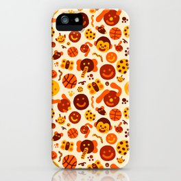 Silly Brown Pattern iPhone Case