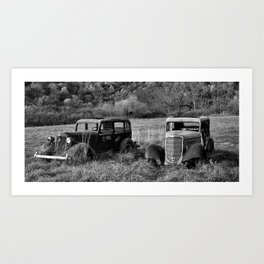 The two Old Timers Art Print