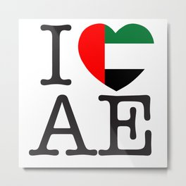 I Love United Arab Emirates Metal Print
