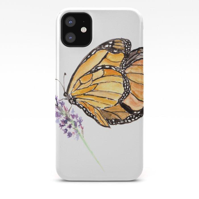 Чехол для телефона можно красиво разрисовать маркером: рисунок с бабочкой