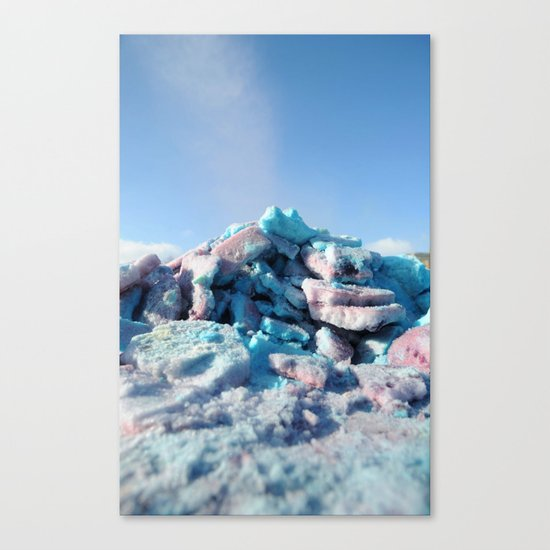 Having Fun in the Winter - Colored Snow #1 #art #society6 Canvas Print