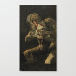 Saturn Devouring His Son - Goya Canvas Print