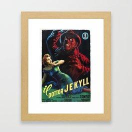 dottor jekyll Framed Art Print