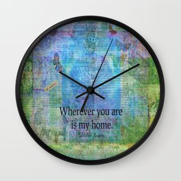 Jane Eyre Romantic Quote Wall Clock