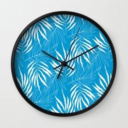 Ash Tree Leaves Scandinavian Pattern Wall Clock