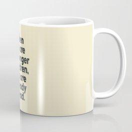 When we are no longer children, we are already dead, Constantin Brancusi quote poster art, inspire Coffee Mug