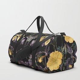 Nocturnal botanical garden kaleidoscope Duffle Bag