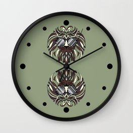 Stylized Hipster Lion Wall Clock