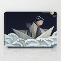pirate ship iPad Cases featuring The Pirate Ship by Fizzyjinks