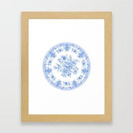 Blue asiatic pheasant Framed Art Print