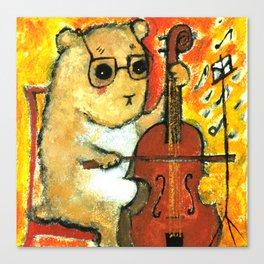Hamster cellist Canvas Print