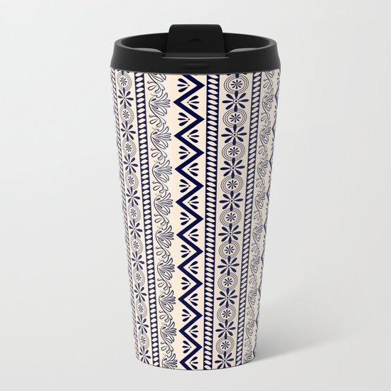pattern art curtain Metal Travel Mug