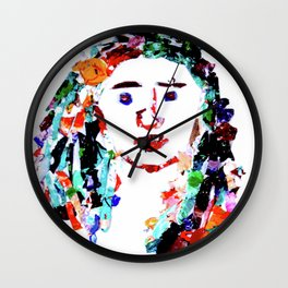 Dried Paint Person Wall Clock