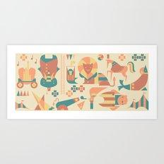 Animals' Circus Art Print
