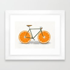 Zest (Orange Wheels) Framed Art Print