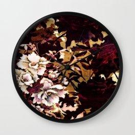 Tropical Blaze Floral Print Wall Clock