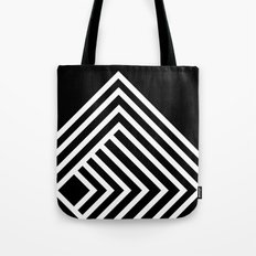 Tremendous Stripe-White&Black Tote Bag