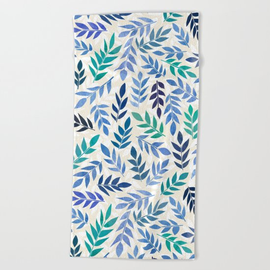 Blue Forest Beach Towel