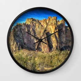 Oregon, Smith Rock, High Desert, Oregon, USA Wall Clock