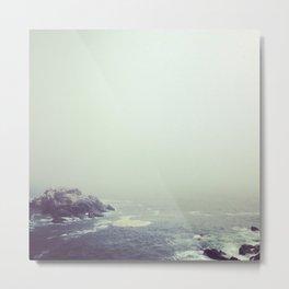 Maine Fog Metal Print