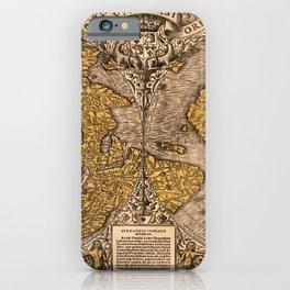 Noua, et integra uniuersi orbis descriptio (1531) iPhone Case