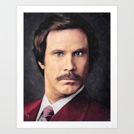 Ron Burgundy Art Print