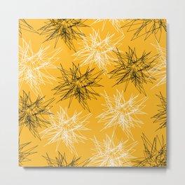 Yellow Squiggles Metal Print