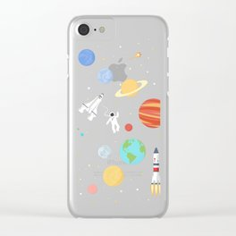 In space Clear iPhone Case