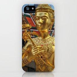 Golden Kinnaris Statue iPhone Case