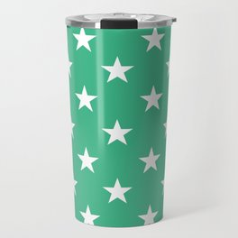 Stars (White/Mint) Travel Mug
