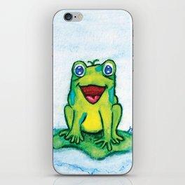 Happy Frog - Watercolor iPhone Skin