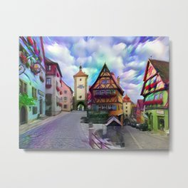 Medieval Rothenburg Metal Print