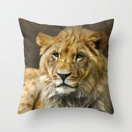 The young lion Throw Pillow