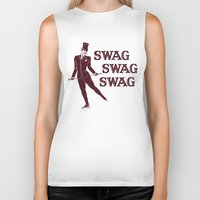 swag Biker Tanks featuring Swag Swag Swag by Krissy Diggs