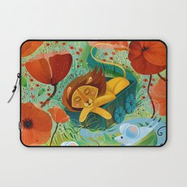 sleeping lion Laptop Sleeve