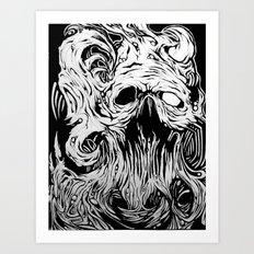 Organic Skull Art Print