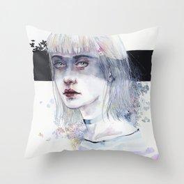 Blindfolded Goddess Throw Pillow