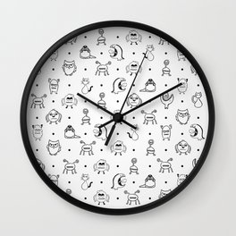 Monster Cuties Wall Clock