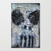 punisher Canvas Prints featuring THE PUNISHER by JANUARY FROST
