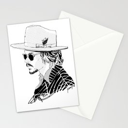 Johnny Depp with sun-glasses Stationery Cards