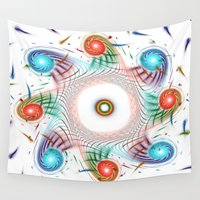 evil eye Wall Tapestries featuring eye by haroulita