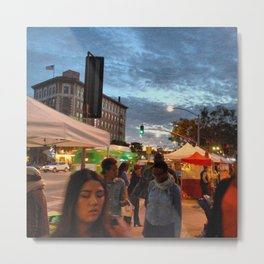 City 4: Culver City Farmer's Market Metal Print