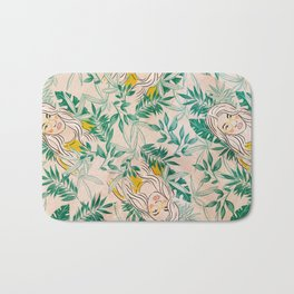 Tropical Girl Bath Mat