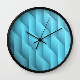 Gradient Teal Diamonds Geometric Shapes Wall Clock