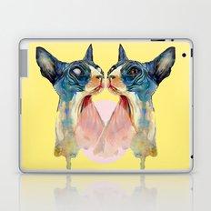 cat yellow Laptop & iPad Skin