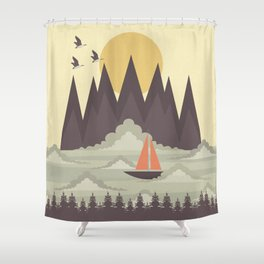 Over the Clouds Shower Curtain