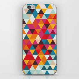 Vintage Summer Color Palette - Hipster Geometric Triangle Pattern iPhone Skin