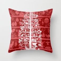 CHRISTMAS TREE white ITINERANT Throw Pillow
