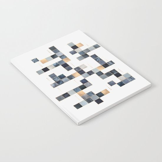 Blue Squares Notebook
